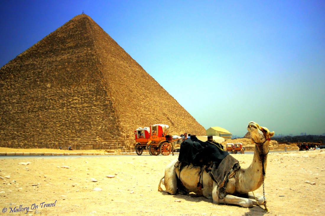 The Great Pyramid in Giza, Cairo, Egypt on Mallory On Travel adventure, photography