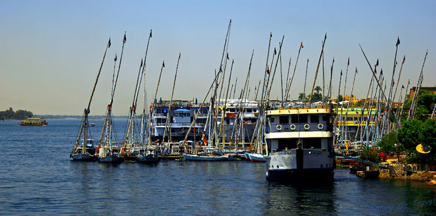 River boats built to cruise on the Nile, Egypt on Mallory On Travel