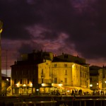 Postcard from dark skies over French La Rochelle