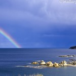 Monastery at the end of a Greek rainbow