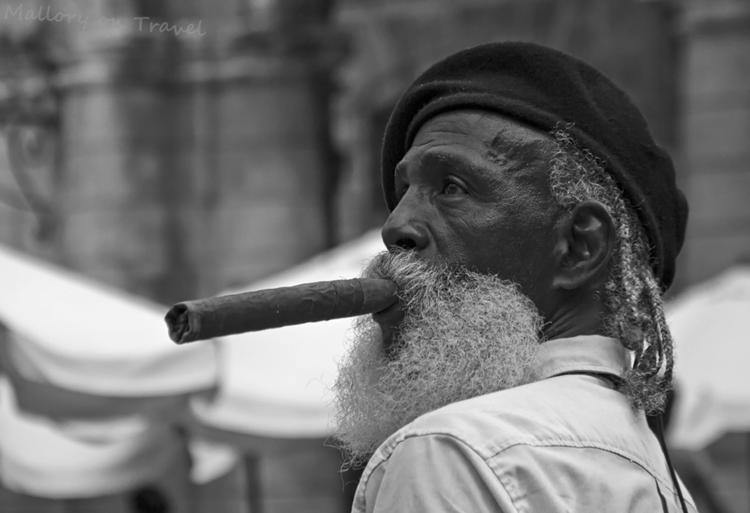 A street model in Havana, on the Caribbean island of Cuba on Mallory on Travel adventure photography iain-mallory-300-239_cuban model