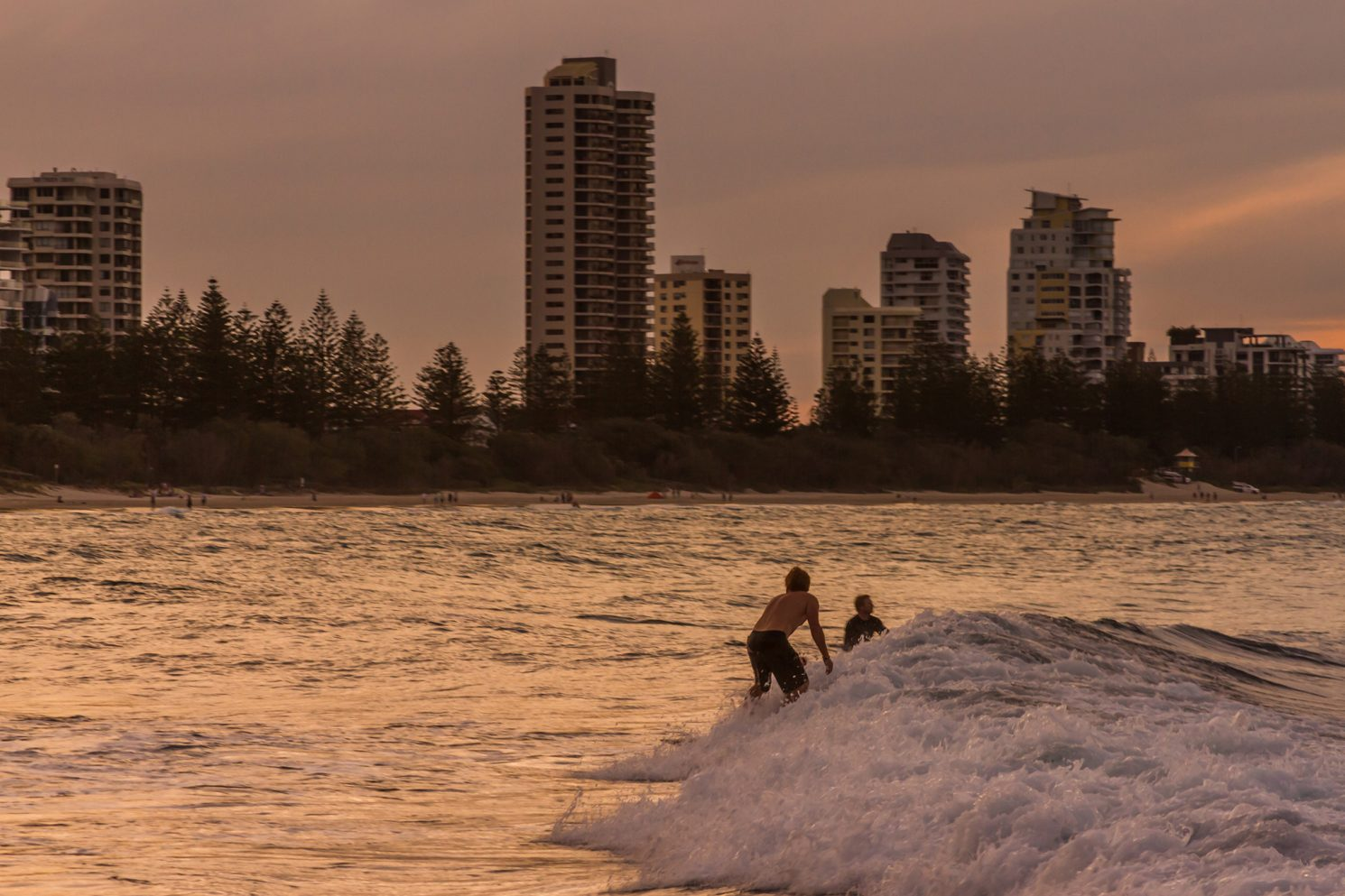 Surfers on the Gold Coast, Queensland in Australia from Burleigh Head on Mallory on Travel adventure, adventure travel, photography Iain Mallory-300-28 queensland_surfers