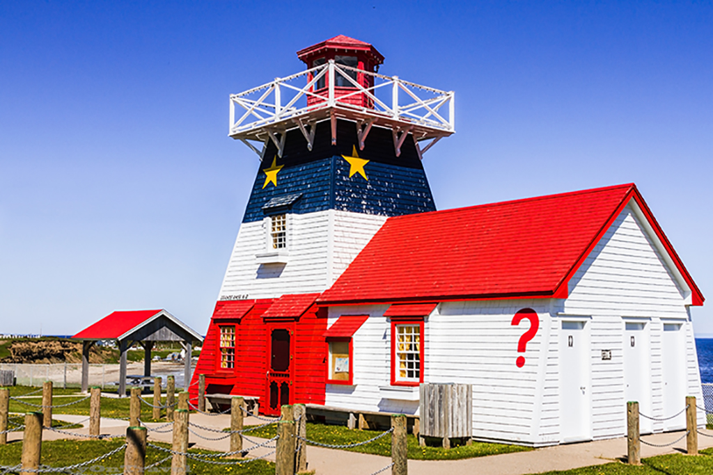 Proud Acadian coloured lighthouse near Caraquet in New Brunswick, Canada on Mallory on Travel adventure, adventure travel, photography Iain Mallory-217 acadian_lighthouse