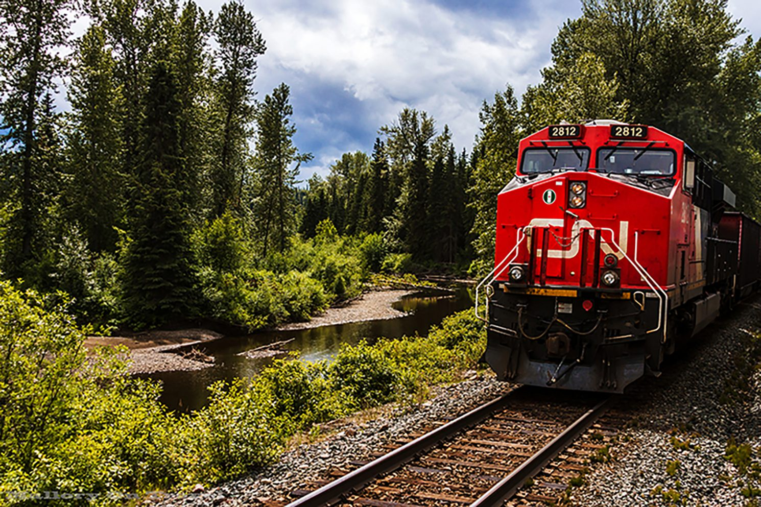 Freight train in British Columbia, Canada on Mallory on Travel adventure, adventure travel, photography Iain Mallory-53 canadian_freight