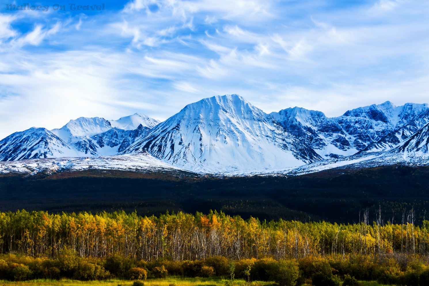 A saw tooth ridge and fall colours along the Alaska Highway between Alaska and Haines Junction in The Yukon, Canada on Mallory on Travel adventure travel, photography, travel Iain_Mallory_Yukon1412707