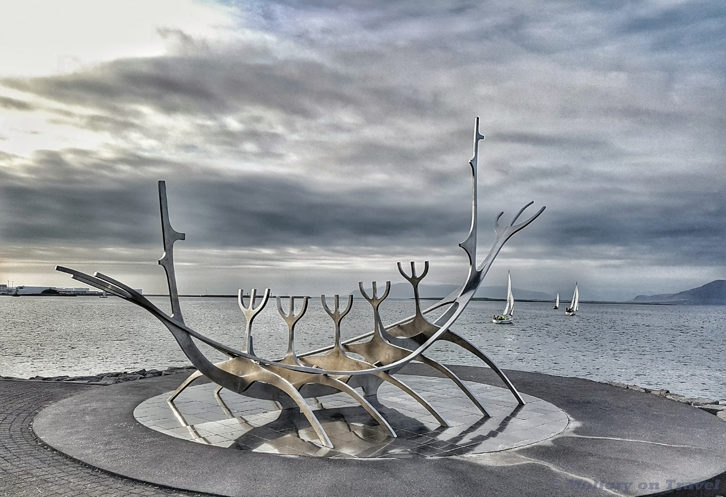 Lost Luggage Challenge; the Sun Voyager, viking ship sculpture in Reykjavik, the capital city of Iceland on Mallory on Travel adventure travel, photography, travel Iain Mallory_Iceland0071-01