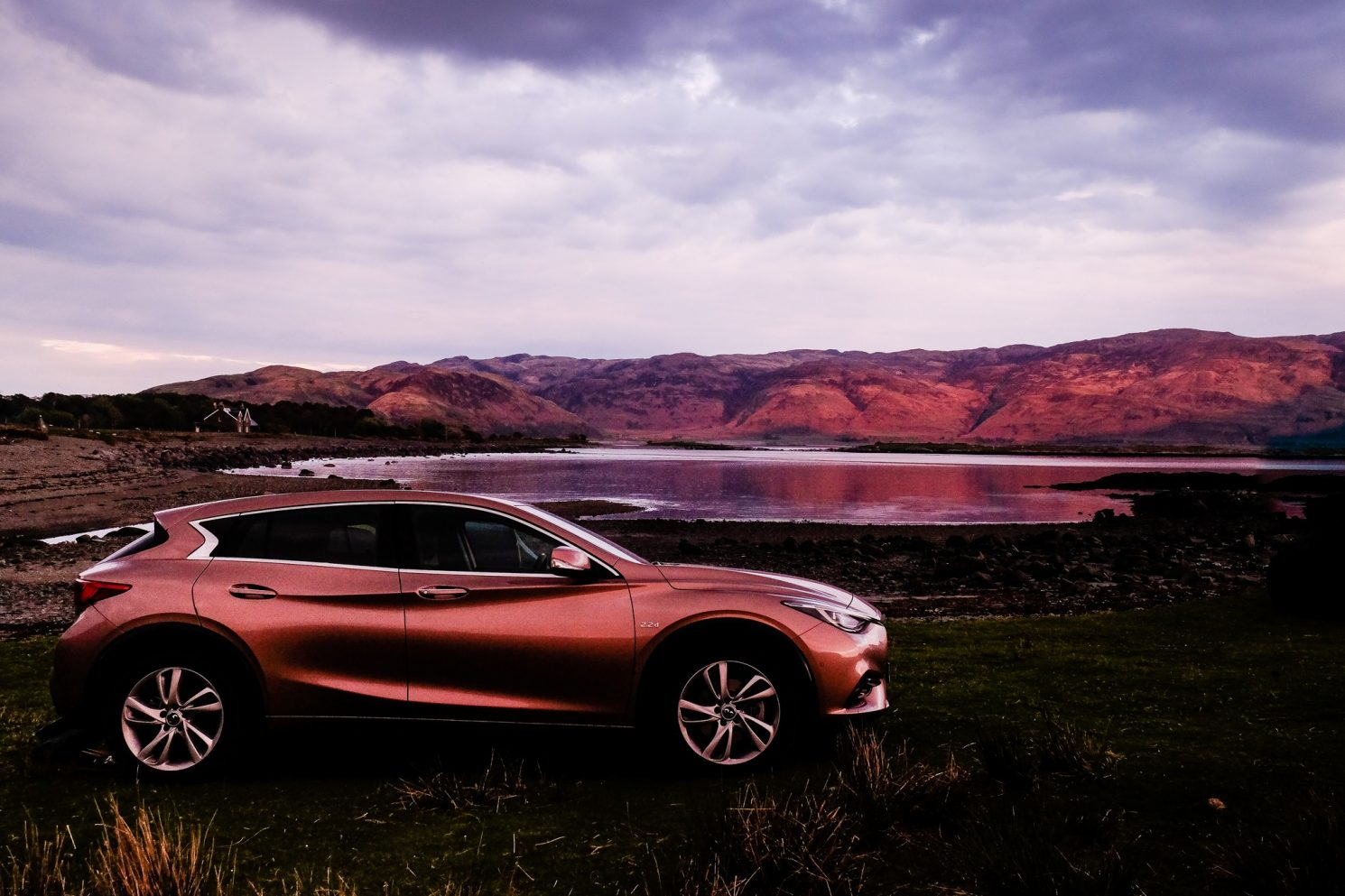 Infiniti Q30 at the campsite at Lochbuie, Isle of Mull in the Highlands of Scotland on Mallory on Travel adventure travel, photography, travel Iain Mallory_Mull3573