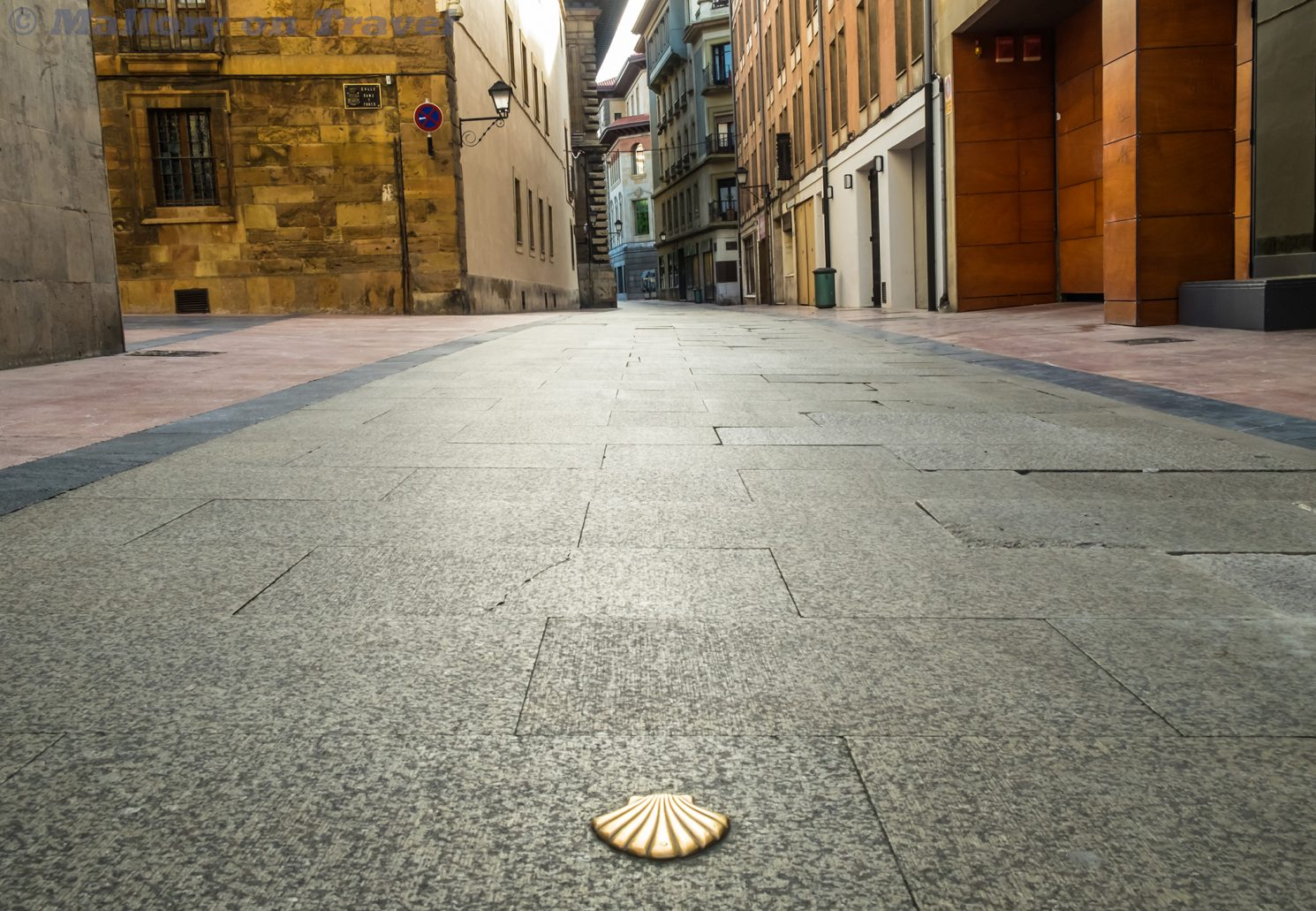Marking the way on the Camino de Santiago in Oviedo, Asturias in northern Spain on Mallory on Travel adventure travel, photography, travel Iain_Mallory_Spain-7472