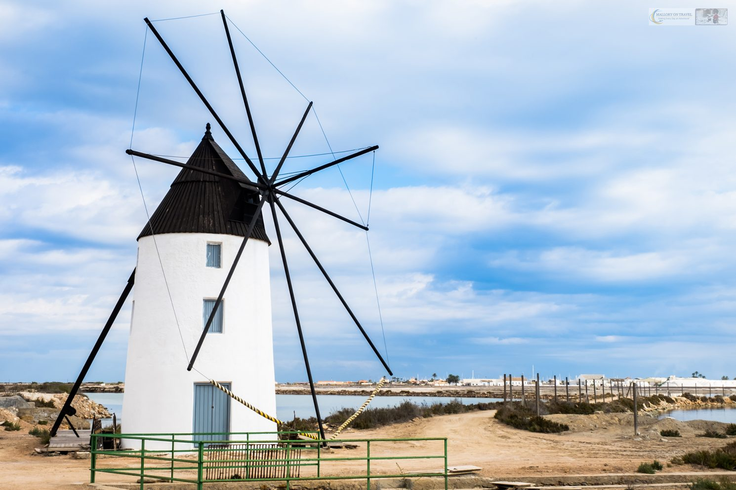 Windmill at the saltflats of San Pedro del Pinatar near La Manga Strip in Murcia, on the Costa Cálida, Spain on Mallory on Travel adventure travel, photography, travel iain-mallory_murcia-001-88