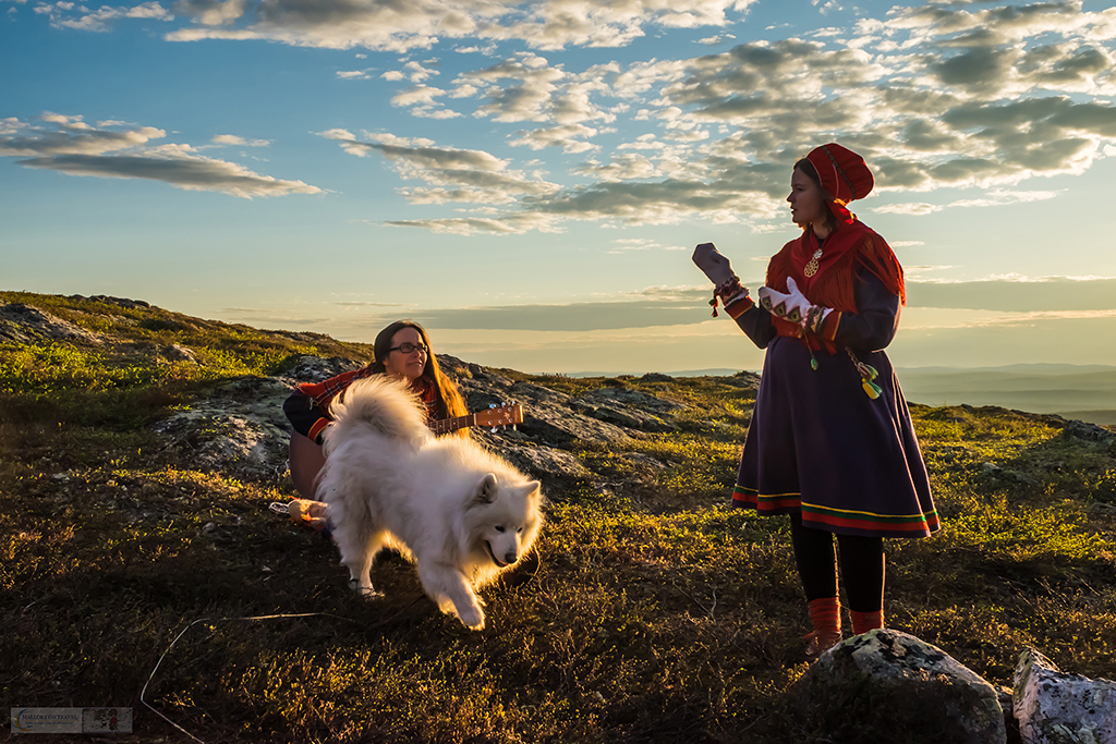 Sami performers singing during a nightless night on the Kiilopää fell near Inari, Arctic Finland on Mallory on Travel adventure travel, photography, travel Iain Mallory_finland-1-27