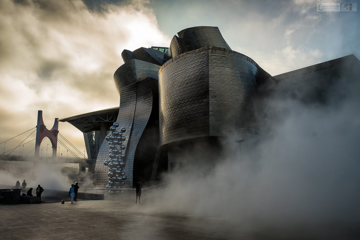 The Guggenheim Museum on the bank of the Nervion River, in Bilbao unofficial capital city of the autonomous region of Basque Country, Spain on Mallory on Travel adventure travel, photography, travel Iain Mallory_Spain 006-2