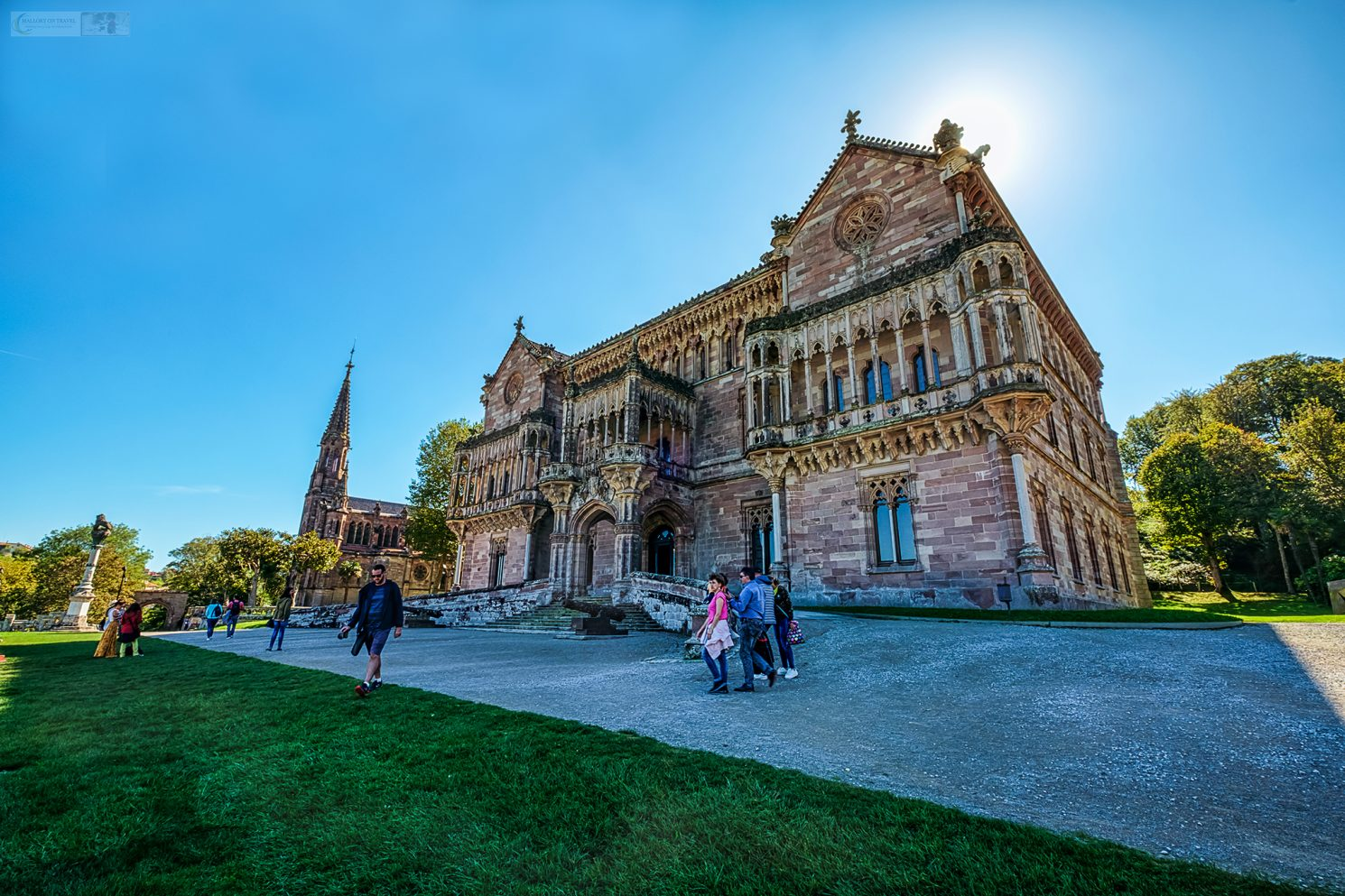 The Pantheon Chapel and Palacio de Sobrellano, which comprise the Ensemble of Sobrellano in the Cantabria town of Comillas in Green Spain on Mallory on Travel adventure travel, photography, travel Iain Mallory_spain-24