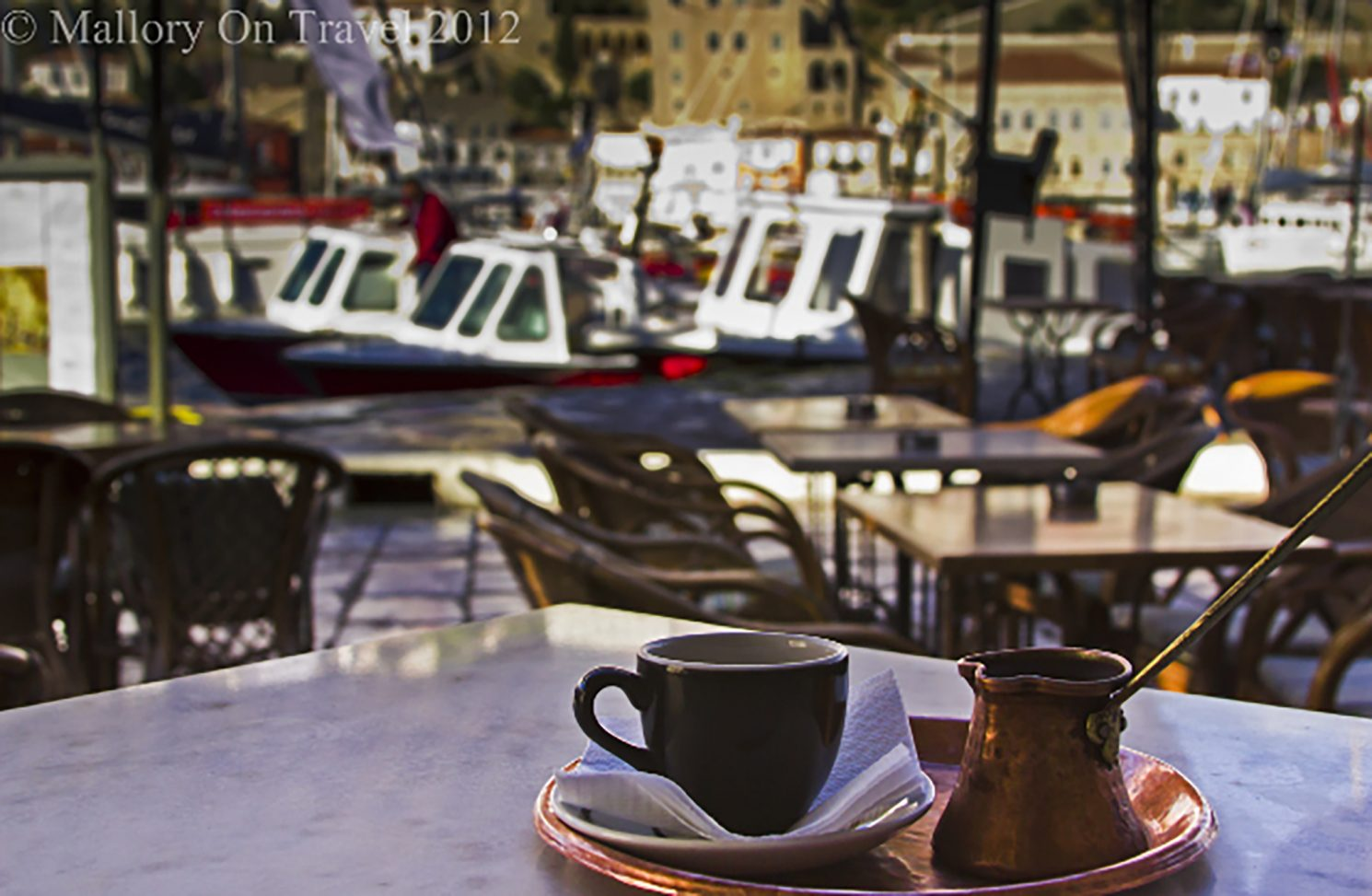 Coffee culture; Greek coffee on the Saronic Island of Hydra on Mallory on Travel, adventure, photography iain-mallory-300-3 hydra