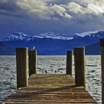 Postcard from a picture perfect jetty, Switzerland