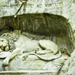 Postcard from Switzerland and the Lion of Lucerne
