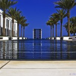 Postcard from Muscat, Oman, poolside at The Chedi