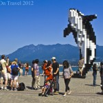 Postcard from Vancouver seafront; the Lego Orca
