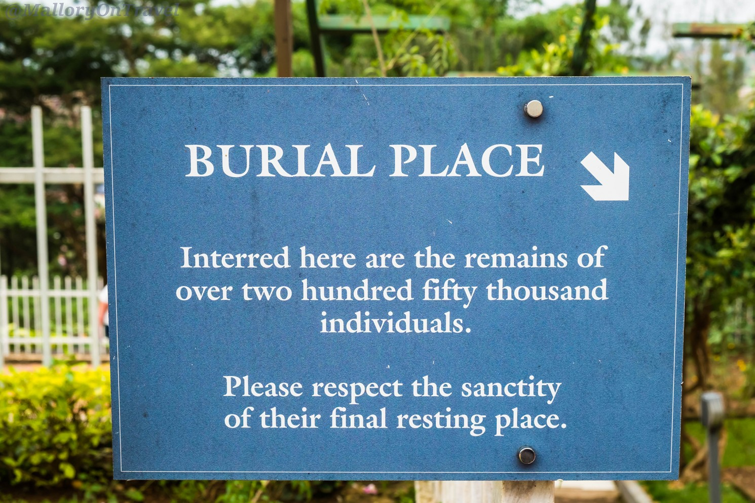 A sign at the mass grave at Kigali Genocide Memorial Centre at Rwanda in east Africa on Mallory on Travel adventure travel, photography, travel Iain_Mallory_Rwanda-2700