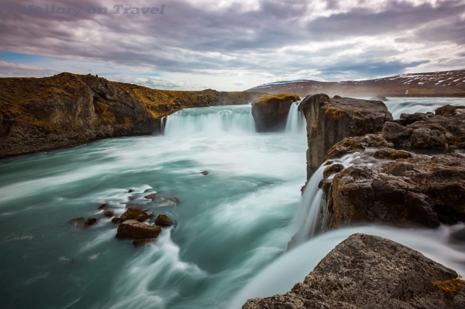 "Goðafoss, ""Waterfalls of the Gods"" in north east Iceland on Mallory on Travel adventure travel, photography, travel Iain_Mallory_Iceland-5059"