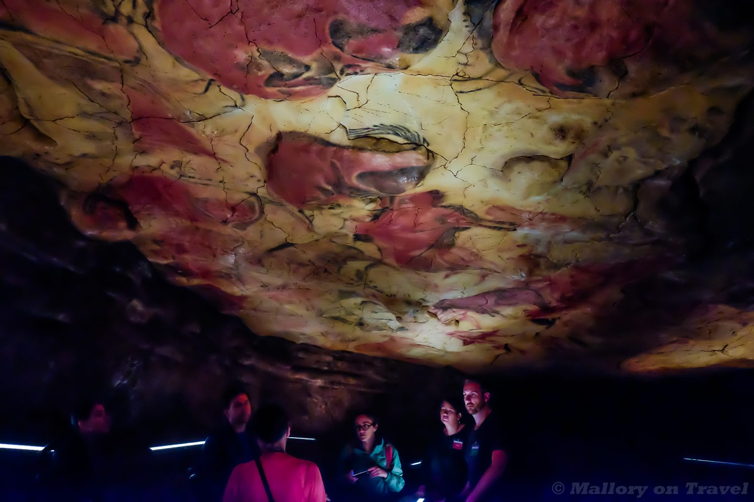 Visitors under the rock art of the Altamira Cave, Cantabria a Spanish World heritage Site on Mallory on Travel adventure travel, photography, travel Iain Mallory_Spain6889