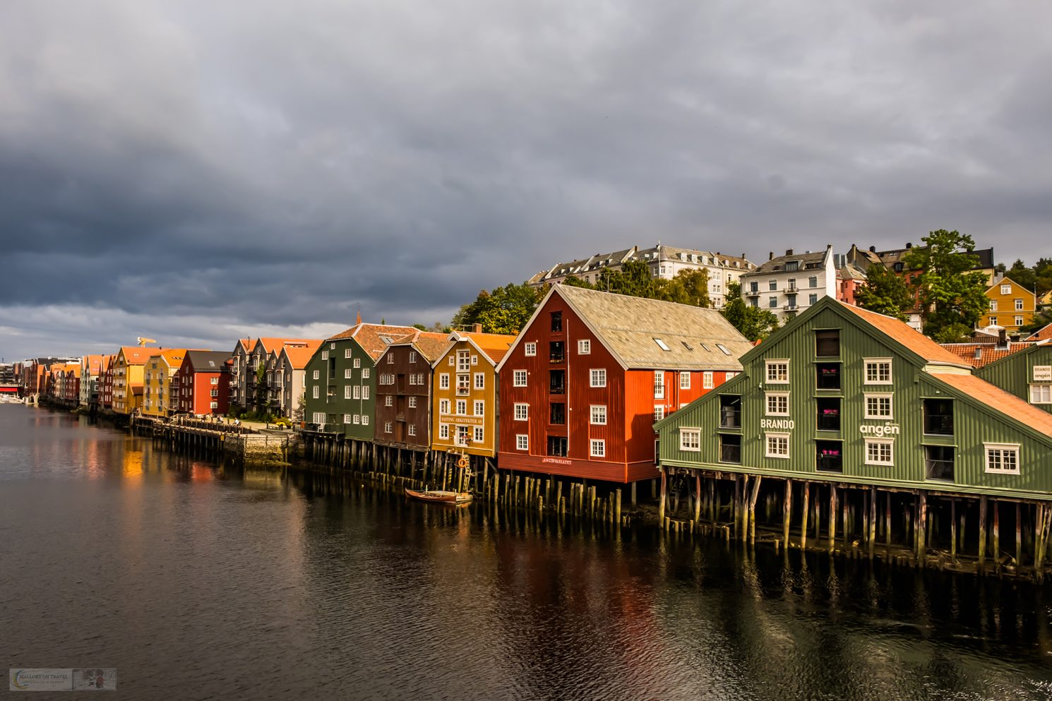 The colourful warehouses which line the River Nidelven, which runs through the city of Trondheim in Norway, Scandinavia on Mallory on Travel adventure travel, photography, travel Iain Mallory_trondelag-1-24