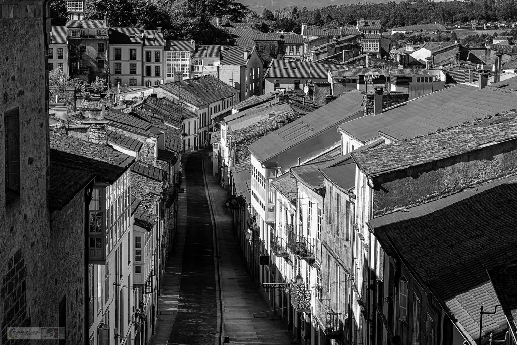The street of the Galician capital city, Santiago de Compostela in the northern region of Green Spain on Mallory on Travel adventure travel, photography, travel Iain Mallory_spain 004-3