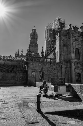 A merchant silversmith trading on the Platerius Square in Santiago de Compostela, capital city of Galicia, in Green Spain on Mallory on Travel adventure travel, photography, travel Iain Mallory_spain 008-3