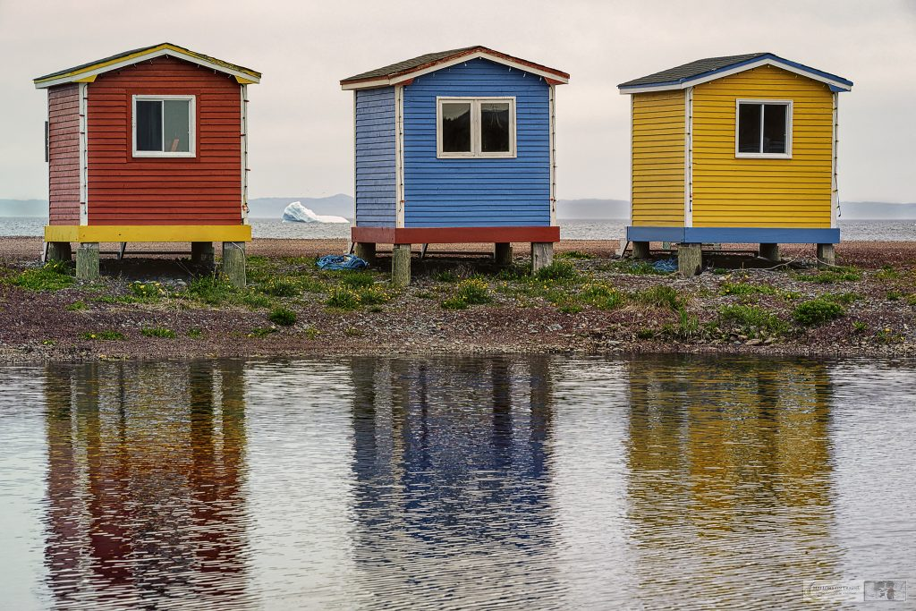 Colourful beach houses near Portugal Cove on the Avalon Peninsula, Newfoundland and Labrador in Canada on Mallory on Travel adventure travel, photography, travel Iain Mallory_Newfoundland 008