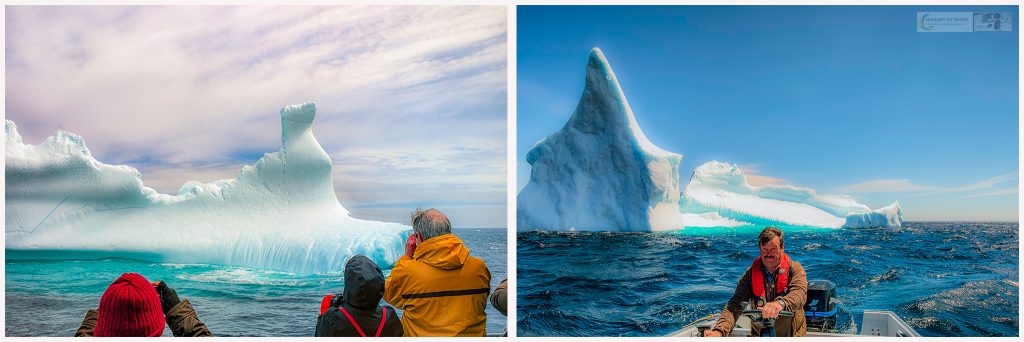 Chasing Icebergs on Iceberg Alley, near Petty Harbour and St. John's on the Avalon Peninsula in the province of Newfoundland and Labrador, Canada on Mallory on Travel adventure travel, photography, travel iceberg montage4