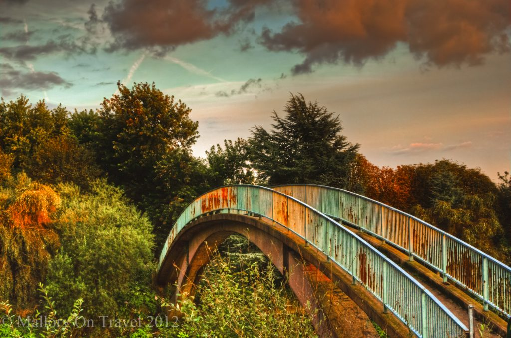 Urban outdoors; Autumn colour, rust and peeling pain on a bridge in Salford, near Manchester on Mallory on Travel adventure travel, photography, travel Iain Mallory-300-14