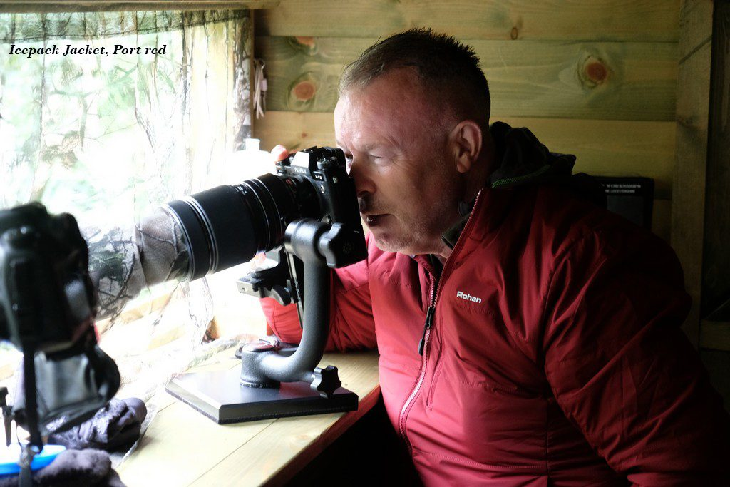City break: Birdwatching in a bird hide wearing a Rohan Icepack insulated jacket on Mallory on Travel adventure travel, photography, travel Rohan shoot 3 (15)text