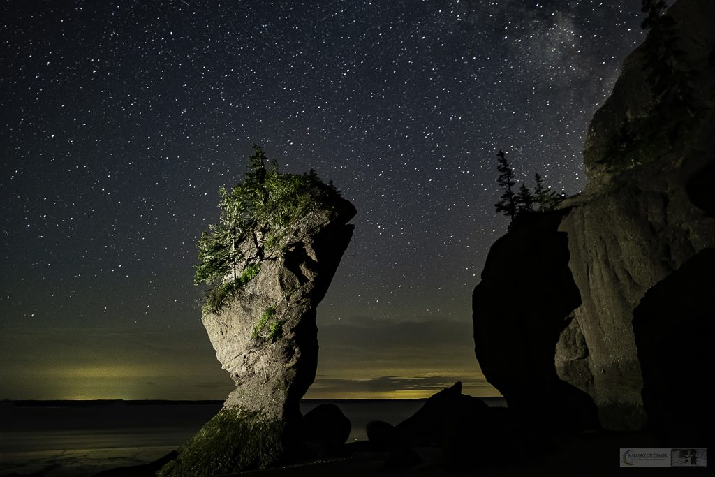 Hopewell Rocks of the Rocks Provincial Park in New Brunswick, Canada under the Milky Way on Mallory on Travel adventure travel, photography, travel