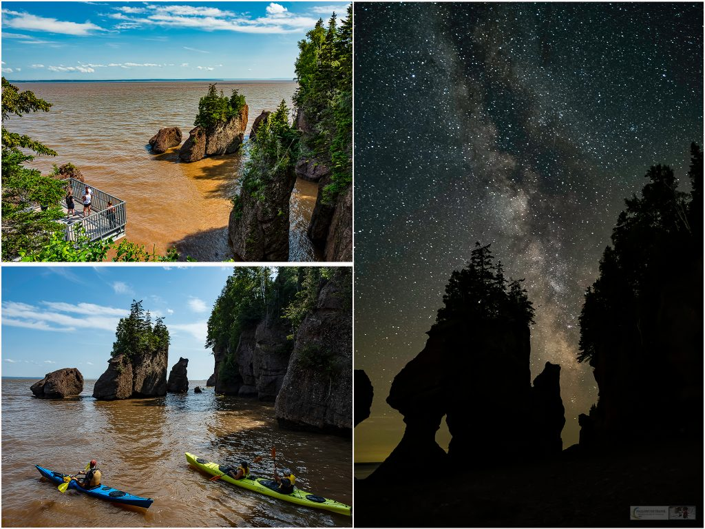 Exploring Hopewell Rocks, the sentinel sea stacks of New Brunswick, located in the Rocks Provincial Park on the Bay of Fundy, Canada with the largest tides in the world on Mallory on Travel adventure travel, photography, travel