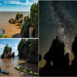 Hopewell Rocks, New Brunswick – Silent Sentinels under the Stars
